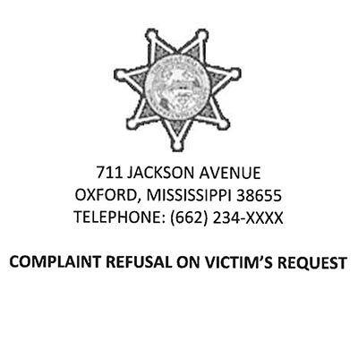 Complaint refusal form