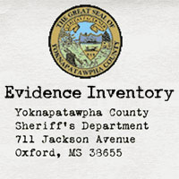 Inventory of evidence collected from the Dubois crime scene